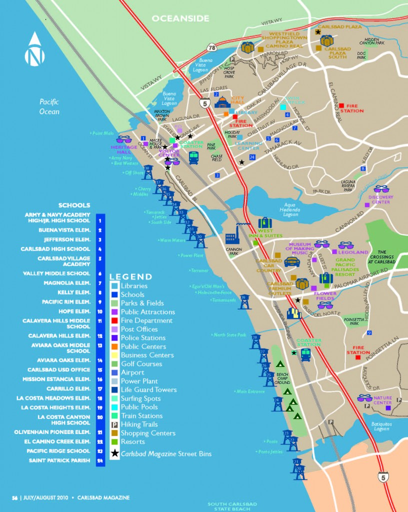 Awesome Carlsbad Map